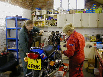 Tom and Kate in our workshop January 2010
